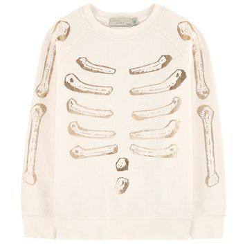 Stella McCartney Girls Cream Skeleton Sweater