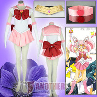 Another Me Anime Sailor Moon Chibiusa Pink Fancy Dress Cosplay Costume Christmas