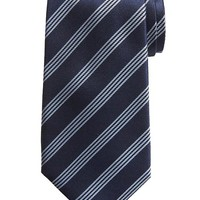 Banana Republic Four Stripe Silk Tie Size One Size - Navy