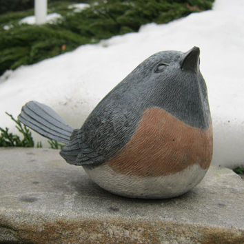 Bird Statue Concrete Bird Garden Decor by WestWindHomeGarden