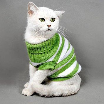 Solid Striped Cats Sweater