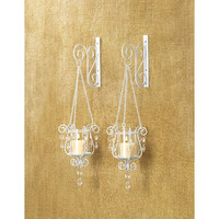 Graceful Bedazzling Pendants Candle Holder Wall Sconces
