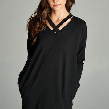 Goes With Everything Black Tunic