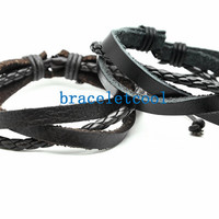 set of 2 bracelet, couple bracelet women Leather Bracelet Men leather bracelet, friendship bracelet,Christmas Gift C046