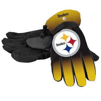 Pittsburgh Steelers Gloves Insulated Gradient Big Logo