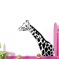 Wall Decals Giraffe Animals Jungle Safari African Childrens Decor Kids Vinyl Sticker Wall Decal Nursery Bedroom Murals Playroom Art SV6053
