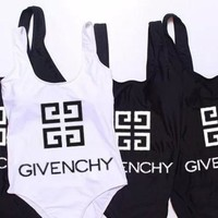 Givenchy sells casual printed logo swimsuits and sexy women's one-piece bikinis