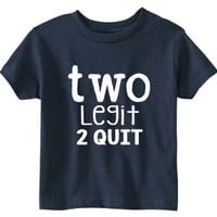Toddler 2nd Birthday Shirt (SOFT) - Two Year Old Birthday Shirt - Two Year Old Funny Shirt for Little Boys - Two Legit 2 Quit - 2nd Birthday