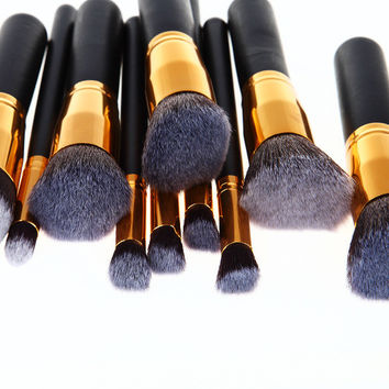 Professional 10pcs Makeup Brushes Set Cosmetic Tool Beauty