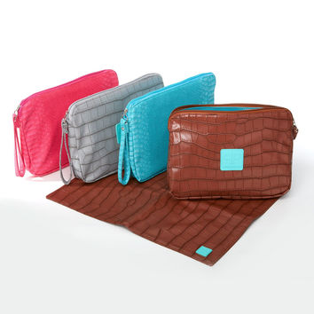 Chic Diaper Clutch for Moms on the GO