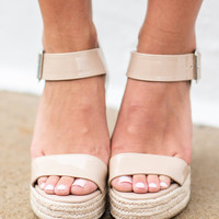 Ready For It All Wedges, Dark Beige