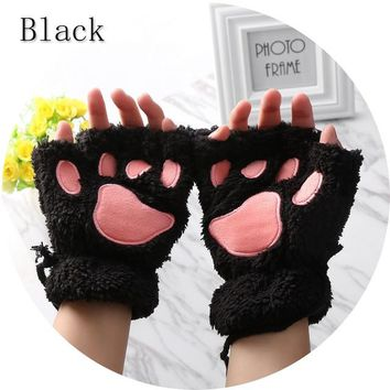 Fingerless Cat Paw Gloves In Hard To Find Colors