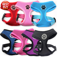 Paw Rubber Air Mesh Dog Harness
