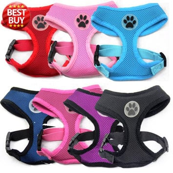 Paw Rubber Air Mesh Dog Harness 5 colors available