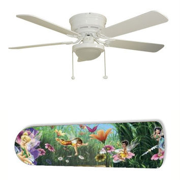 "Tinkerbell Fairies Faeries Forest 52"" Ceiling Fan with Lamp"