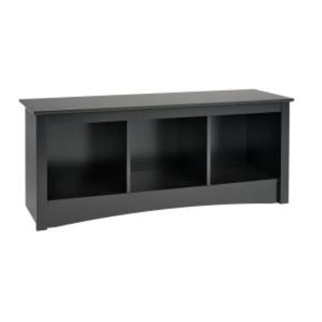 Prepac Sonoma Cubbie Storage Bench in Black BSC-4820 at The Home Depot - Mobile