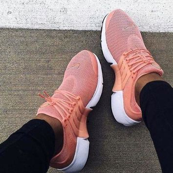 """""""NIKE""""Air Presto Women Men Fashion Running Sport Casual Shoes Sneakers Pink-small wine red hook H-AA-SDDSL-KHZHXMKH"""