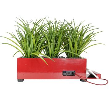 4 Port - Red, Grass Charging Station