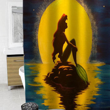 ariel the little mermaid Custom Shower Curtain Funny Shower Curtain size 36x72,48x72,60x72,66x72