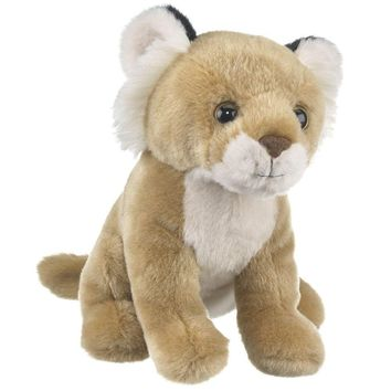 8 Inch Sitting Lion Cub Small Stuffed Animals Floppy Zoo Conservation Collection