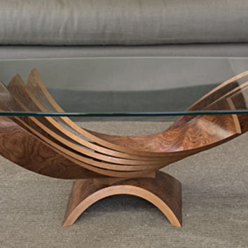 Spiral Cocktail Table by Blaise Gaston (Wood Coffee Table) | Artful Home