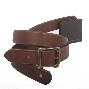 """The Guthrie 1"""" Wide Guitar Strap - Oxblood Bridle Leather"""