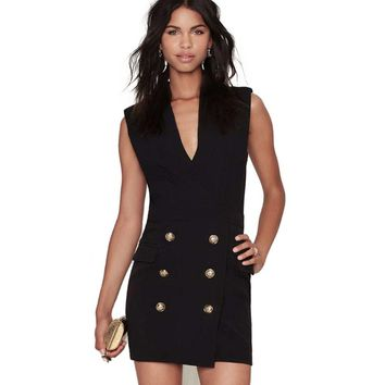 Simple Style Plunging Neck Bodycon Mini Dress for Women
