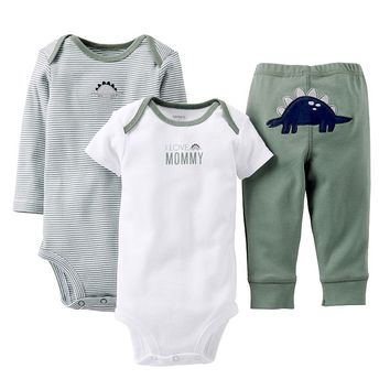 Carter's Dinosaur Turn Me Around Bodysuit Set
