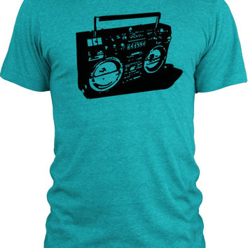 Big Texas Ghetto Blaster (Black) Vintage Tri-Blend T-Shirt