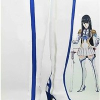 KILL la KILL Cosplay Boot Shoes Anime High Heel Calf Boots COS Party Shoes