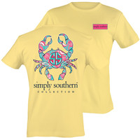 Simply Southern Preppy Sunrise Crab Sea T-Shirt