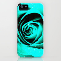 CYAN ROSE - For IPhone - iPhone Case by Simone Morana Cyla | Society6