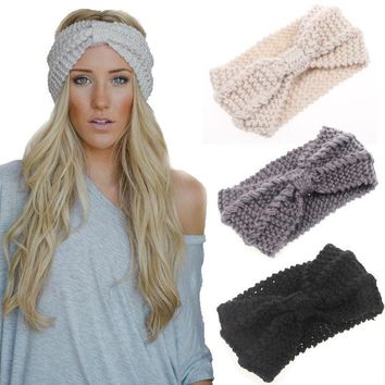 Day-First™ Women Knot Knit Headband Bow Crochet Turban Head Wrap Hair Accessories