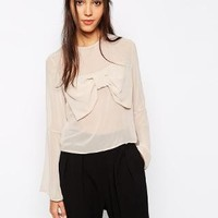 Never Fully Dressed | Never Fully Dressed Blouse With Bow Detail at ASOS