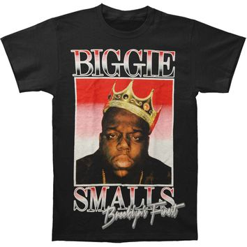 Notorious B.I.G. Men's  Biggie Brooklyn's Finest T-shirt Black