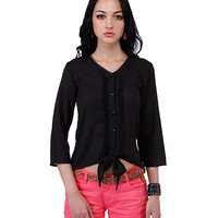 Tie-Up Top - Black Online Shopping | 11241