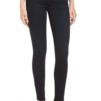 7 For All Mankind 'b(air)' High Rise Skinny Jeans (Blue/Black River Thames) | Nordstrom
