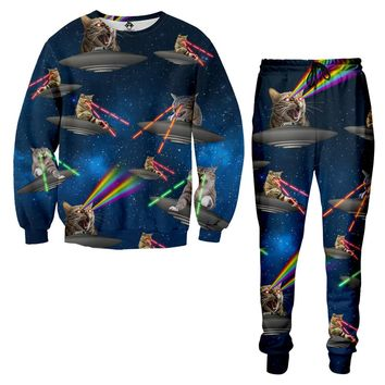 Galaxy Cats Laser Fight Tracksuit