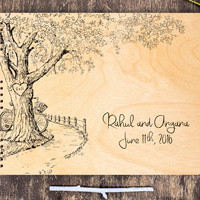 Rustic Wedding Guest Book, Rustic Guestbook, Garden Wedding Guestbook, Oak Tree Wedding, Rustic Guest Book, Wood Guestbook Custom Guest Book