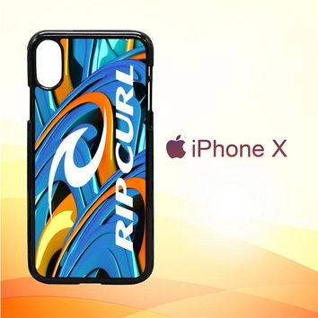 Rip Curl logo Z3299 iPhone X Case