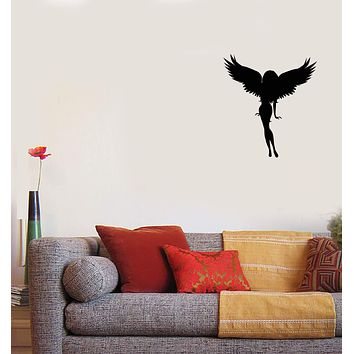 Vinyl Wall Decal Angel Girl Wings Hot Sexy Home Interior Decor Sticker Mural (g007)