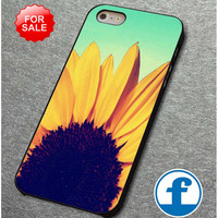 Sunflower Cute Flower Tumblr Inspired Blue Ombre  for iphone, ipod, samsung galaxy, HTC and Nexus PHONE CASE