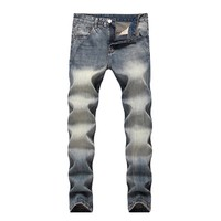 Men's Fashion Vintage Men Cotton Casual Denim Jeans [264170930205]