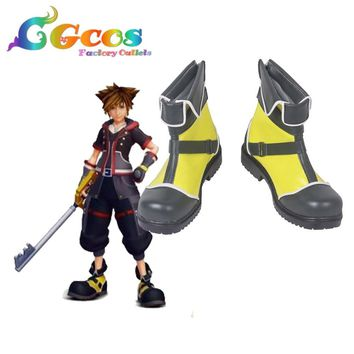 Cool Free Shipping Cosplay Shoes Kingdom Hearts Sora Boots Anime New in Stock Halloween ChristmasAT_93_12