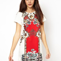 Ginger Fizz Shift Dress Regal Opulence Print