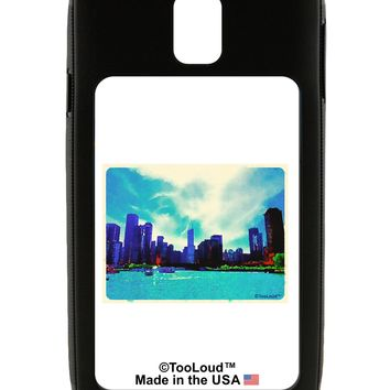 Chicago Skyline Watercolor Galaxy Note 3 Case  by TooLoud
