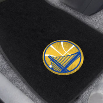 Golden State Warriors 2-pc Embroidered Car Mat Set