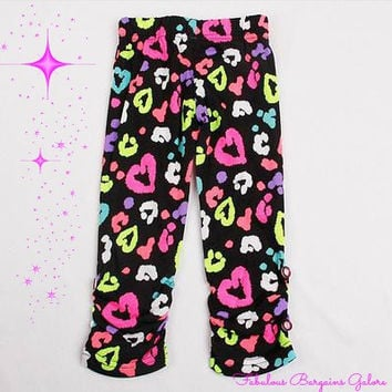 Girls cute heart print leggings