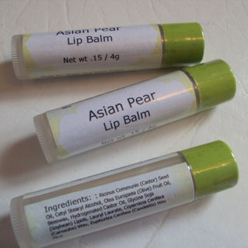 Asian Pear Flavor Lip Balm by sugarandspicesoaps on Etsy