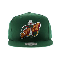 Nba Seattle Supersonics Hwc Solid Snapback In Green
